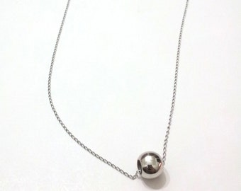 BALL-chain NECKLACE stainless steel-stainless steel chain-minimal-layering necklace-necklaces-silver-Italy-