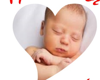Customize your own Baby or Child or Children  Heart sticker decal  Send us your Photo