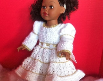 "Angel Outfit for 18"" doll"
