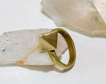 Brass Pyramid Ring