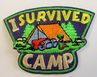 "Girl Scout Fun Patch ""I Survived Camp"""