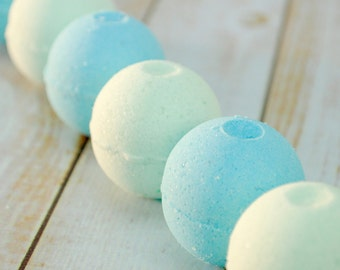 Mini Bath Bombs -- Clean Scented Mini Bath Bomb Set -- Eucalyptus Mint Mini Bath Bombs -- Ocean Bath Bombs -- Clean Seas Mini Bath Fizzies