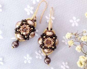 "Earrings ""Old Gold"""