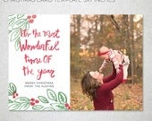 5x7 Christmas Card Templates for Photographers, Front and Back, Modern Photography Template, Holiday, Families, instant download, Christmas
