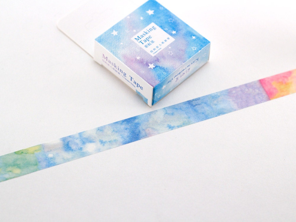 Watercolor washi tape 10 metres washi tape decorative for Tape works decorative tape
