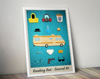 Breaking Bad - Survival Kit - limited edition print 297 x 420mm, Signed and numbered.