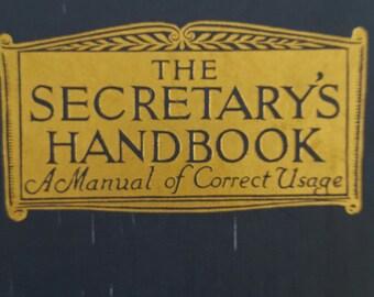 1951 The Secretary's Handbook A Manual of Correct Usage, Seventh Edition by MacMillan
