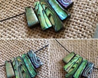 Abalone fan necklace
