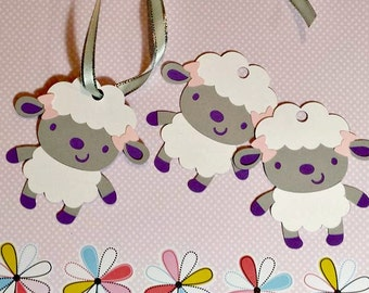Baby Sheep Party Favor Tags/ Baby Sheep Baby Shower/ First Birthday/ Sheep/Lamb/ Sheep Tags/ Girl Shower/ Girl Baby Shower tags