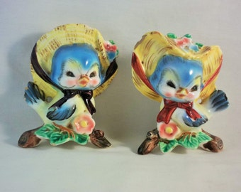 CLEARANCE - PY Blue Bird Salt and Pepper Shakers, As-Is