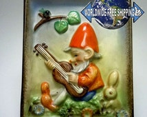 Hummel / Goebel wall picture with dwarf - rare 50s (TMK 2)