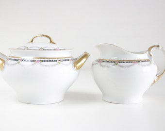 Sugar And Creamer Set By Heinrich H&Co. Tea Party Set. Selb Bavaria China. Housewarming Wedding Gifts For Her. Replacement China