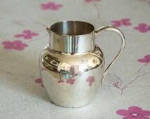 Handsome antique sterling silver creamer jug, 1910