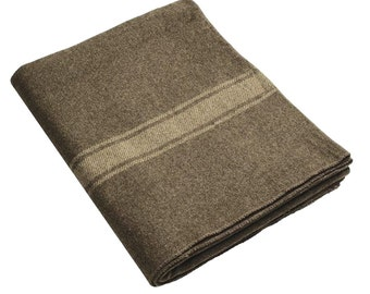 Military camping outdoor survival  Italian army Wool Blanket