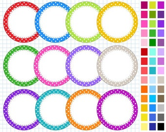 Rainbow Digital Frames Pack, Frames Clipart, 42 Frames, Personal And Commercial Use - Instant Download