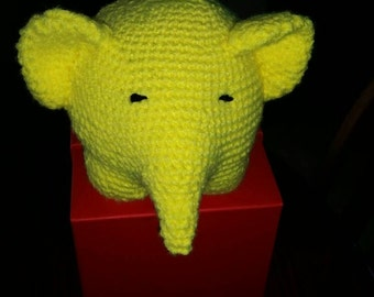 Crocheted elephant, plush elephant, stuffed animal, baby toy