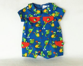 Puff the Magic Dragon Baby Clothing with Red Dots