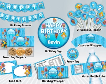 Bubble Guppies Printable Party Package - Blue or Pink