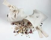 Bulk Bags, Reusable Cloth Bulk Bags, Washable Bulk Bag Set, Bulk Bags with Built in Tie, Herb Bags