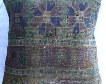 Vintage Turkish Carpet Pillow