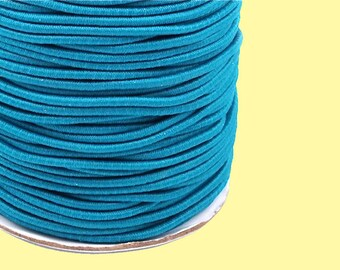 Round rubber cord 2 mm turquoise