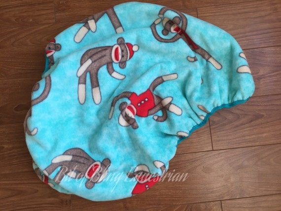 Sock Monkey AP English Saddle Cover