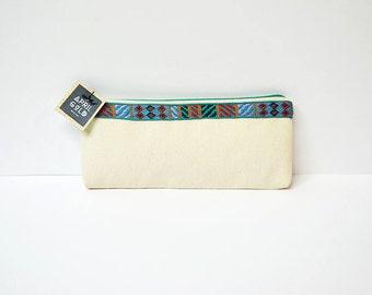 Canvas I Handmade Pouch I Make Up Bag I Pencil Case
