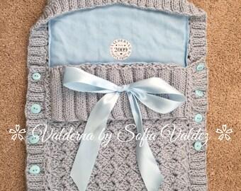 Baby Cocoon Baby Blue* Knit *Crochet (NEWBORN)