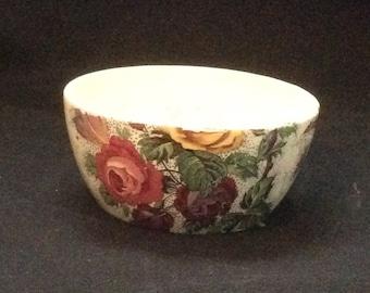 "Antique Royal Tudor Ware ""Lorna Doone"" Chintz Open Sugar Bowl"