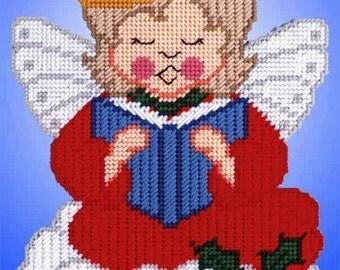 LARGE CHRISTMAS ANGEL - Wall Hanging - Christmas Decor - Holiday Decor - Gold Metallic Accents