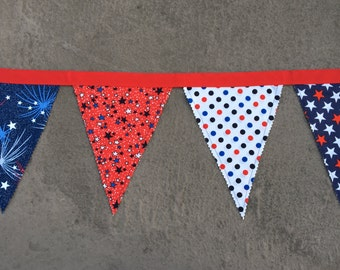 Fabric Banner - 4th of July