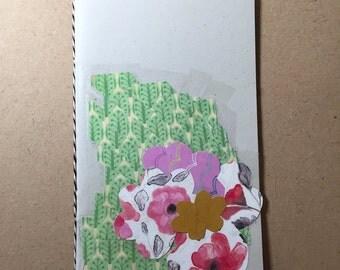 Hand bound // Collage covered // Goody Book // Notebook // Flower Garden