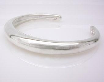 slim silver bracelet