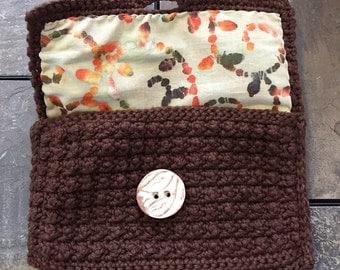Natural Twists: A Handmade Crocheted Cotton Bag/Wallet/Clutch