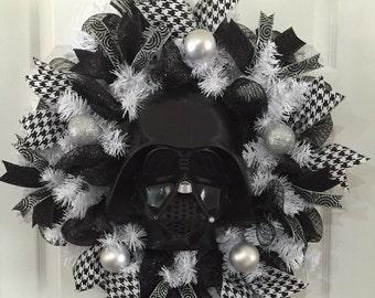 Darth Vader Wreath,Star Wars Wreath,Darth Vader,Star Wars,Darth Vader gift,Star Wars gift,Darth Vader Decor,Star Wars Decor,Handmade Gift