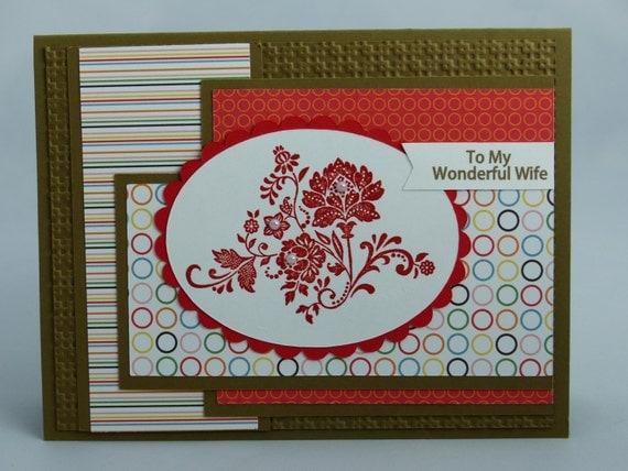 stampin up handmade greeting card wife birthday card