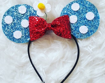 Vintage Minnie Mouse Ears | Minnie Mouse Birthday | Minnie Mouse Headband | Minnie Ears | Vintage Mickey |  1930's Minnie Mouse