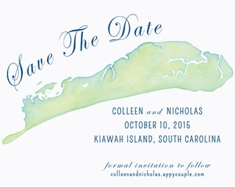 Custom Watercolor Map Invitation