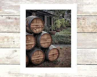 BARRELS OF FUN - Napa Valley area -  Architecture - Fine Art Photograph - Limited Edition of  250