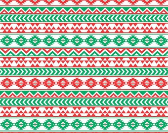 Red, white and green tribal pattern craft  vinyl sheet - HTV or Adhesive Vinyl -  Aztec Peruvian pattern HTV941