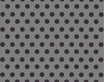 Dark grey with black dot pattern craft  vinyl sheet - HTV or Adhesive Vinyl -  medium polka dots  HTV1631