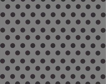 Dark grey with black dot pattern craft  vinyl sheet - HTV or Adhesive Vinyl -  medium polka dots  HTV1631
