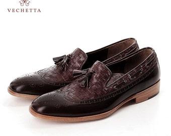 Men Loafer Tassel Wingtip - Leather Weaven