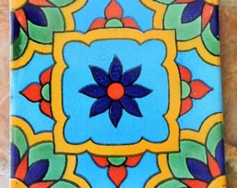 "90 Mexican Talavera Tiles handmade-hand painted 4 ""X 4"""