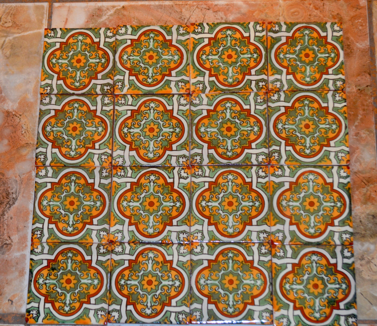 X Inch Craft Painted Tiles