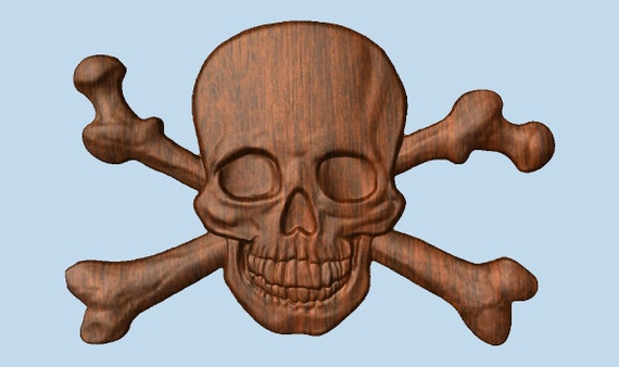 Pirate decor skull and bones d by thewoodgraingallery