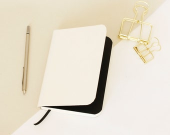 Wino Patterned Notebook PIKE with Patterned pages - White Cover