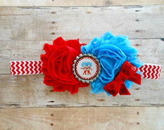 Thing 1 Thing 2 Dr. Suess Shabby Headband, Dr. Suess Headband, Dr. Suess Birthday Party, Dr. Suess Baby, Dr. Suess Toddler, Dr. Suess Photos
