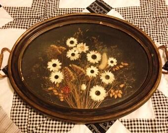 Pressed Flowers Perfume/Vanity Tray