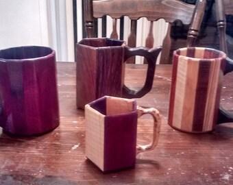 32oz Wooden Mug
